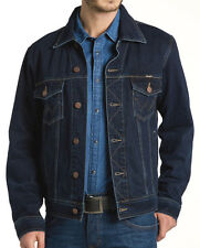 Wrangler Authentic Western Jacket Blue Black Jacke L Herren