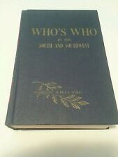 Who's Who in the South and Southwest 1950 history  Hardcover