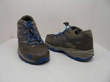 The North Face Boy's Youth Hedgehog Hiking Shoe Brown/Blue Size 6 Used w/ Defect