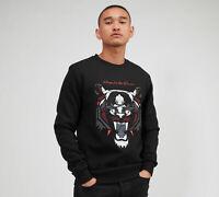 Kings Will Dream Mens New KWD Crew Neck Sweatshirt Long Sleeve Black Demon