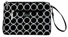 Diaper Clutch with Changing Pad By Kalencom-Coated Cotton-Black Holes