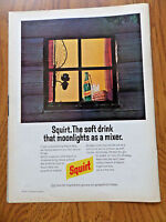 1972 Squirt Soda Pop Bottle Ad Raleigh Cigarette Ad Fly Fishing Theme