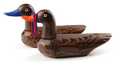 "7.5"" Korean Traditional Wooden Wedding Ducks Coated Small Size Special Gift"
