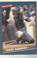 FREE SHIPPING-MINT-1986 Donruss #356 Terry Kennedy San Diego Padres +BONUS CARDS