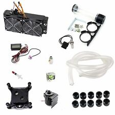 Water Cooling Kit 240mm Radiator CPU Block 14W Pump 190mm Reservoir Tubing