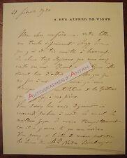 L.A.S 1920 F de CUREL Académicien - Nadia Boulanger de WENDEL Lettre autographe