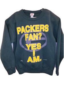 Vintage 90s Green Bay Packers Men's Size Medium Nutmeg Crewneck Sweatshirt 1994
