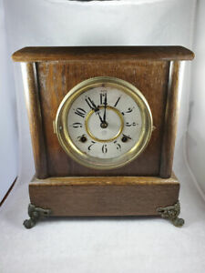 ANTIQUE NEW HAVEN NO. 301 8 DAY MANTLE CLOCK ~ PERFECT WORKING CONDITION!
