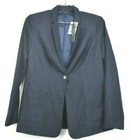 NWT Tahari Women's 8 Career Business Professional Denim Blue Button Blazer