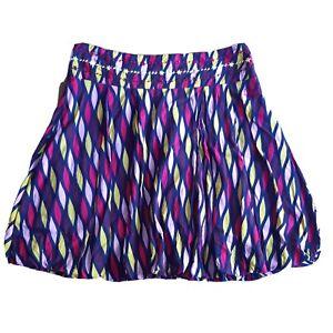 Animal Size 10 Blue Pink Green Ikat Dot Floral Knee Length Skirt