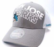 San Jose Sharks Reebok NH34Z NHL TNT Meshback Truckers Hockey Cap Hat