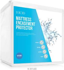 Deep Pocket Waterproof Mattress Encasement Protector Bed Bug Proof Quiet Cover