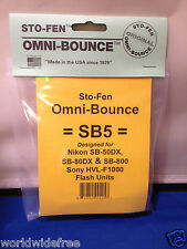 Sto-Fen Omni-Bounce SB5 Diffuser fits Sony HVL-F1000 Flash Made USA Free Ship
