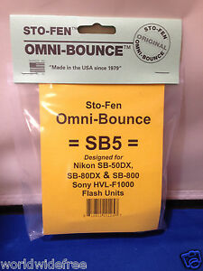 Sto-Fen Omni-Bounce SB5 Diffuser fits Sony HVL-F1000 Flash Made USA Free Ship