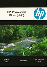 Hp Photo-smart Gloss Vivid~5 x 7 Photo Paper~500ct~10 mil~Hard~To~Find~Size