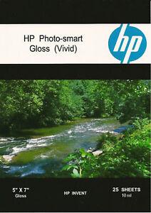 HP Photo-smart Gloss Vivid~5 x 7 Photo Paper~200ct~WOW