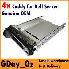 "4x 3.5"" Dell Server Caddy Bulk Discount Pack D981C F9541 PowerEdge PowerVault"