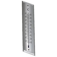 Holman 23cm Aluminium Wall Thermometer Indoor/Outdoor - Mercury Free