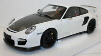 Minichamps 1/18 Diecast 100 069405 - 2011 Porsche 911 GT2 RS White w/Black Wheel
