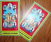 7 AFRICAN POWERS PRAYER CARDS set/2 Siete Potencias Africanas card santeria