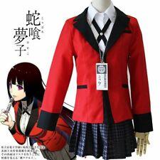 Kakegurui Jabami Yumeko Girls Uniform Outfit Full Set Cosplay Costume Dress Coat