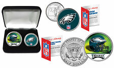 PHILADELPHIA EAGLES Officially Licensed NFL 2-COIN SET w/ Deluxe Display Box