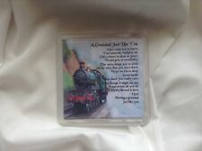 Personalised Coaster - Grandad  Poem -  Train  design   + GIFT BOX
