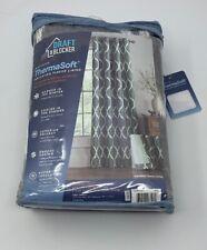Draftblocker Easton Printed 95 in Grommet Room Darkening Curtain Panel Grey
