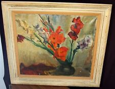 1950 SIGNED Piet van Wijngaerdt LISTED Expressionist DUTCH Oil Painting Bergan