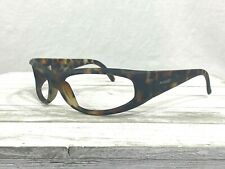 Vintage Arnette Catfish Mens Wrap Sunglasses Tortoise Frames Only Signed Frame