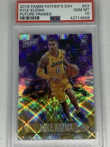 Kyle Kuzma 2018 Panini Father's Day RC PSA 10 Future Frames /50 Lakers NBA RARE