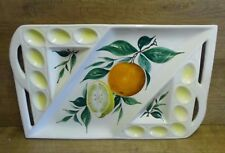 Vintage Italian Made Ceramic Serving Plate/Tray Decorated With Oranges Lemons