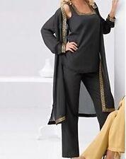 Mother of Bride Groom Wedding Evening party dress 3PC duster pantset plus2X 3X4X