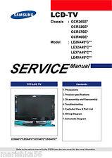 SAMSUNG TV LE26A45*C** LE32A45*C** LE37A45*C** LE40A45*C** SERVICE MANUAL 208 pg