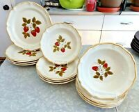 "MIKASA OVEN to TABLE 12 PC. DINNERWARE SET in the ""STRAWBERRY FESTIVAL"" PATTERN"