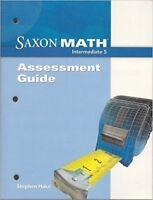 Saxon Math Intermediate 5 Assessments Guide 5th Grade Assessment Tests