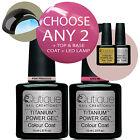 QUTIQUE Professional Gel Nail Polish Colour Kit/Pack/Set LED Lamp-ANY 2 Colours