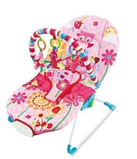 Comfort Elsa Baby Rocker Pink Bouncer Chair With *3 Position Seat Recline*