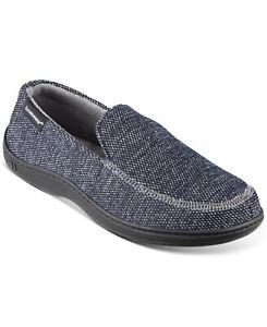 Isotoner Mens Javier Mesh Closed Back Slip-On Slippers Black Size L 9.5-10.5 $75