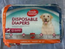 Simple Solution Disposable Dog Diapers Large/XL open pkg unused