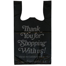 1/8 10x5.5x18 3750 Carry Out Black Plastic Bags *SHIPS COMMERCIAL ADDRESS ONLY*