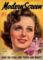 Vintage Poster Print Ad Margaret Sullivan Modern Screen Magazine Cover