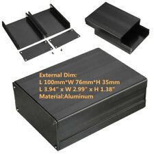 Connectors Black Enclosure Box 100x76x35mm Aluminum Pcb Instrument Supply Unit