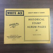 1 Package White Ace Naval Covers Blank Pages, NEW!!!