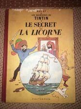 Tintin - Le secret de la Licorne  - 4ème Plat B11 - 1954