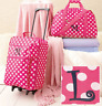 Pink Luggage Set For Girls Monogram L Cloth Duffel Bag Rolling Suitcase Clutch