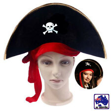 Caribbean Pirate Captain Hat Halloween Skull Hat Fancy Dress Party CAHA95999