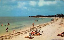 "FLORIDA KEYS 1956 ""Old Florida"" View of Beach with all the People @ Bahia Honda"