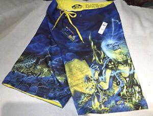 Rare VANS x IRON MAIDEN Boardshorts Trunks Shorts BRAND NEW w/$52 TAGS Mens 33