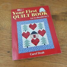 Quilting First Quilt Book Patterns Instructions